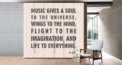 Music, Φράσεις, Αυτοκόλλητα ντουλάπας