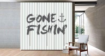 Gone Fishin, Φράσεις, Αυτοκόλλητα ντουλάπας