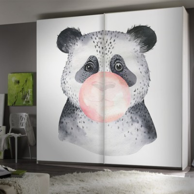 Bubble Panda, Παιδικά, Αυτοκόλλητα ντουλάπας