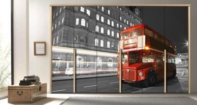 Λεωφορείο, Λονδίνο, Πόλεις - Ταξίδια, Αυτοκόλλητα ντουλάπας