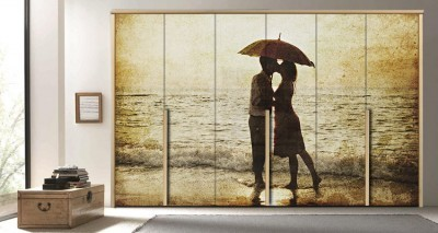 Φιλί, Vintage, Αυτοκόλλητα ντουλάπας