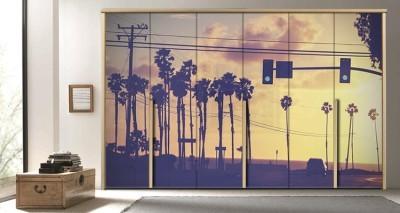 Ηλιοβασίλεμα, Vintage, Αυτοκόλλητα ντουλάπας