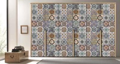 Πλακάκια Λισαβόνας, Φόντο - Τοίχοι, Αυτοκόλλητα ντουλάπας