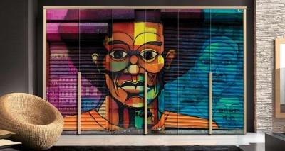 Γκράφιτι τοίχου African, Φόντο - Τοίχοι, Αυτοκόλλητα ντουλάπας