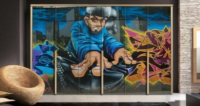 Γκράφιτι τοίχου Dj, Φόντο - Τοίχοι, Αυτοκόλλητα ντουλάπας