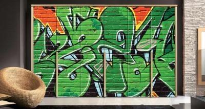 Γκράφιτι τοίχου, Φόντο - Τοίχοι, Αυτοκόλλητα ντουλάπας