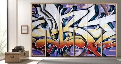 Γκράφιτι, Φόντο - Τοίχοι, Αυτοκόλλητα ντουλάπας