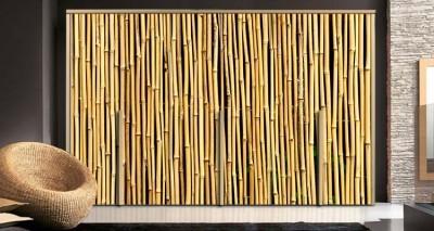 Φόντο από μπαμπού, Φόντο - Τοίχοι, Αυτοκόλλητα ντουλάπας
