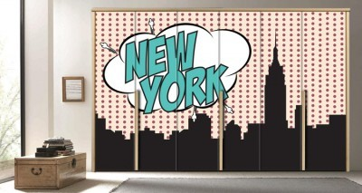 Νέα Υόρκη, Κόμικς, Αυτοκόλλητα ντουλάπας