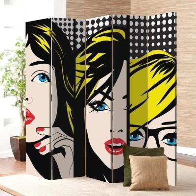 Pop art Πρόσωπα, Κόμικς, Παραβάν