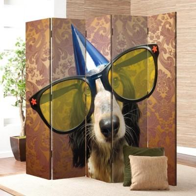 Σκύλος έτοιμος για πάρτι, Ζώα, Παραβάν