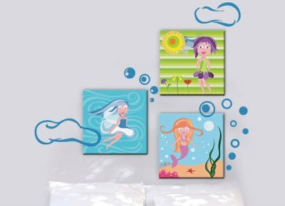Κοριτσάκια, Παιδικά, Πίνακες και αυτοκόλλητα