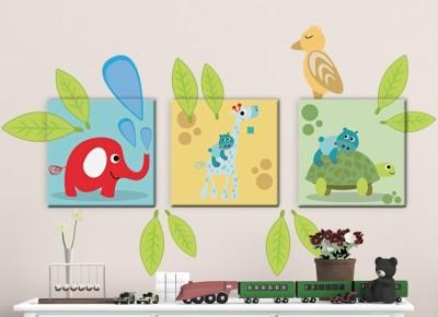 Παιδικά Ζωάκια, Παιδικά, Πίνακες και αυτοκόλλητα