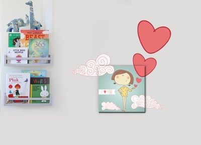 Κοριτσάκι, Παιδικά, Πίνακες και αυτοκόλλητα