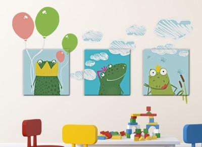 Βατραχάκια, Παιδικά, Πίνακες και αυτοκόλλητα