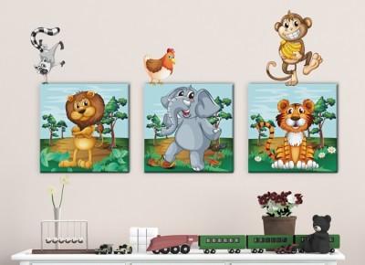 Ζώα της ζούγκλας, Παιδικά, Πίνακες και αυτοκόλλητα