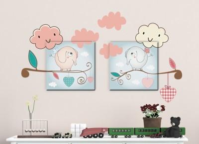 Ελεφαντάκια, Παιδικά, Πίνακες και αυτοκόλλητα