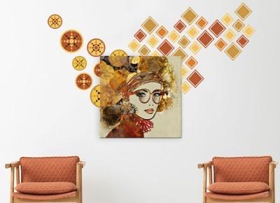 Γυναικείο πρόσωπο, Διάφορα, Πίνακες και αυτοκόλλητα