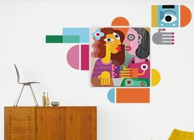 Πορτρέτο γυναικών, Διάφορα, Πίνακες και αυτοκόλλητα