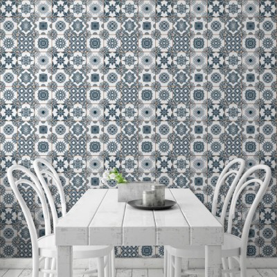 Μπλε κεραμικά πλακίδια, Φόντο - Τοίχοι, Ταπετσαρίες Τοίχου