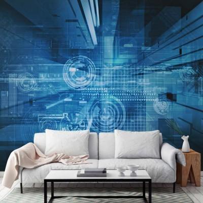 Αφηρημένο σχέδιο τεχνολογίας, Τεχνολογία - 3D, Ταπετσαρίες Τοίχου