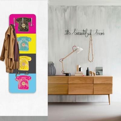 Pop art τηλέφωνα, Κόμικ, Κρεμάστρες & Καλόγεροι