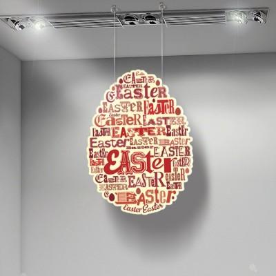 Πάσχα αυγό κόκκινα γράμματα, Πασχαλινά, Καρτολίνες κρεμαστές