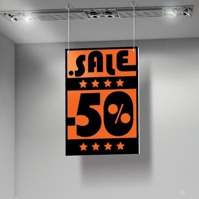 Sale 50%, Εκπτώσεις, Καρτολίνες κρεμαστές