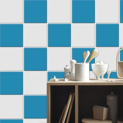 Sky blue (8 τεμάχια), Μονόχρωμα - Πολύχρωμα, Αυτοκόλλητα πλακάκια