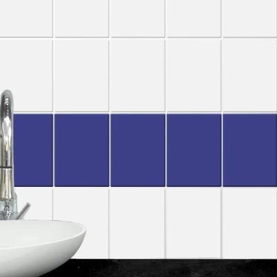 Electric blue (8 τεμάχια), Μονόχρωμα - Πολύχρωμα, Αυτοκόλλητα πλακάκια