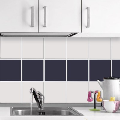 Cobalt blue (8 τεμάχια), Μονόχρωμα - Πολύχρωμα, Αυτοκόλλητα πλακάκια