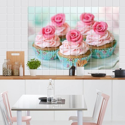 Cupcake, Φωτογραφίες, Αυτοκόλλητα πλακάκια