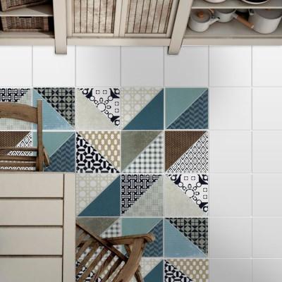 Μοντέρνο μοτίβο (8 τεμάχια) Μοτίβα Αυτοκόλλητα πλακάκια 10 x 10 εκ.
