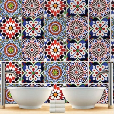 Πολύχρωμο Πορτογαλικό μοτίβο (8 τεμάχια)