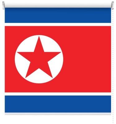 Βόρεια Κορέα Σημαίες του κόσμου Ρολοκουρτίνες 100 x 100 cm
