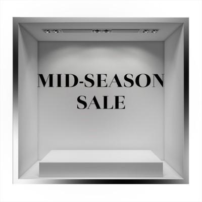 Mid Season Sale, Εκπτωτικά, Αυτοκόλλητα βιτρίνας
