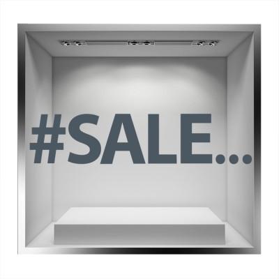 #SALE Εκπτωτικά Αυτοκόλλητα βιτρίνας 27 x 120 cm