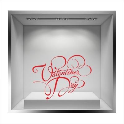 Valentines Day σχέδια με κορδέλες Valentines Day Αυτοκόλλητα βιτρίνας 60 x 80 cm