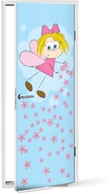 Χαριτωμένη Νεράιδα Παιδικά Αυτοκόλλητα πόρτας 60 x 170 εκ.
