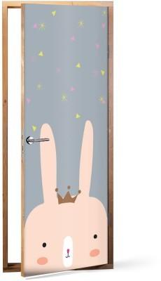 Queen Rabbit Παιδικά Αυτοκόλλητα πόρτας 60 x 170 εκ.