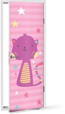 Γατάκι Παιδικά Αυτοκόλλητα πόρτας 60 x 170 εκ.