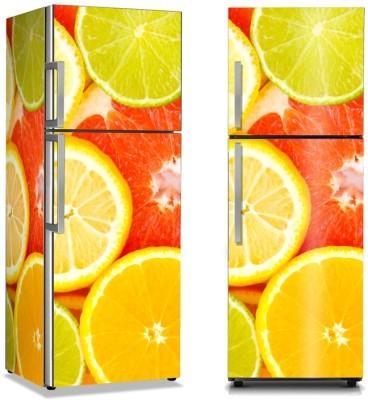 Πορτοκάλια και λεμόνια Φαγητό Αυτοκόλλητα ψυγείου 50 x 85 εκ.