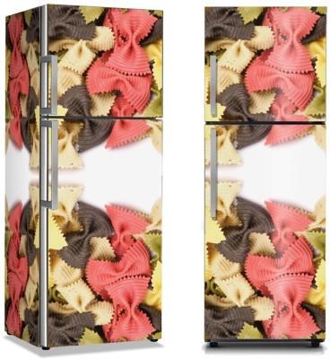 Ζυμαρικά 3 χρωμάτων Φαγητό Αυτοκόλλητα ψυγείου 50 x 85 εκ.