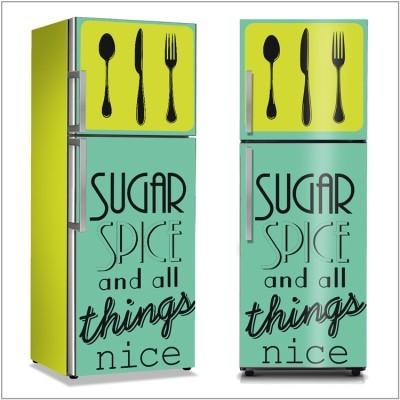 Sugar Spice Φαγητό Αυτοκόλλητα ψυγείου 50 x 85 εκ.