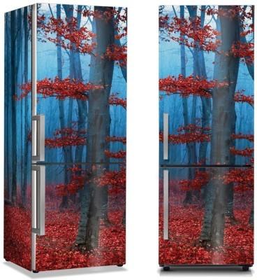 Κόκκινα Φύλλα Φύση Αυτοκόλλητα ψυγείου 50 x 85 εκ.