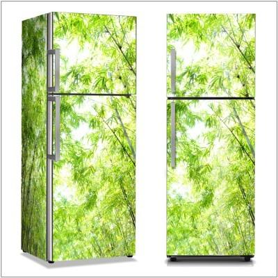 Δάσος από μπαμπού Φύση Αυτοκόλλητα ψυγείου 50 x 85 εκ.