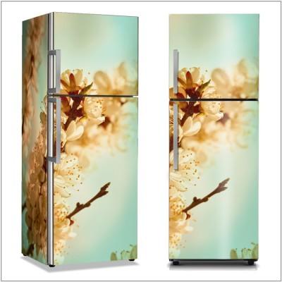 Άνθη κερασιάς Φύση Αυτοκόλλητα ψυγείου 50 x 85 εκ.