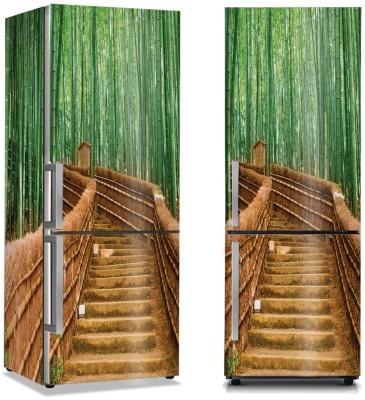 Σκαλοπάτια ανάμεσα στα μπαμπού Φύση Αυτοκόλλητα ψυγείου 50 x 85 εκ.