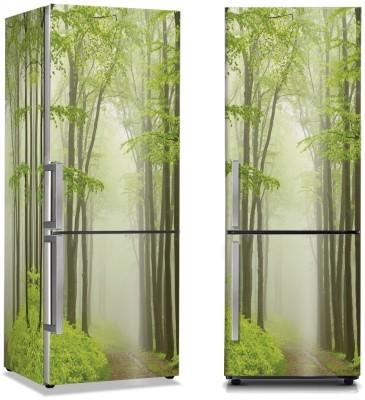 Πράσινα ψηλά δέντρα Φύση Αυτοκόλλητα ψυγείου 50 x 85 εκ.