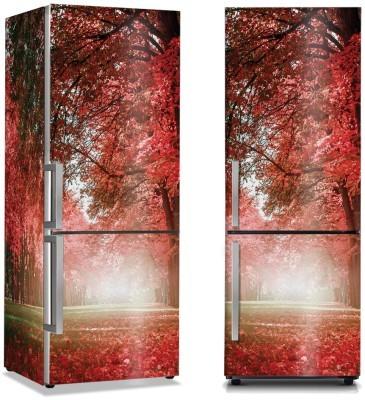 Κόκκινη φύση Φύση Αυτοκόλλητα ψυγείου 50 x 85 εκ.